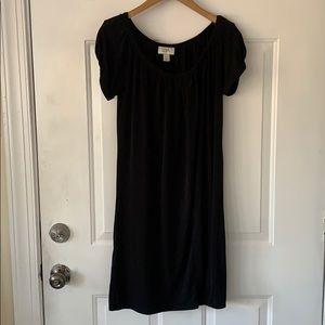 LAST CHANCE ANN TAYLOR LOFT XS Black jersey dress